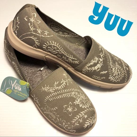 e207ff021 NWT Yuu Krishna taupe slip-on shoes 9.5 wide